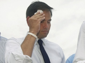 rubio_sweating